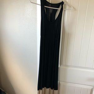 Mossimo black maxi dress brown/black stripes Small